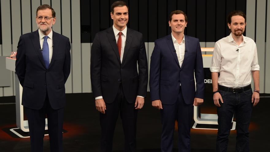 Rajoy pide mantener el rumbo, Iglesias vencer al miedo, Rivera que confíen en él y Sánchez apela a indecisos