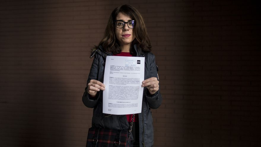 Cristina muestra el expediente sancionador