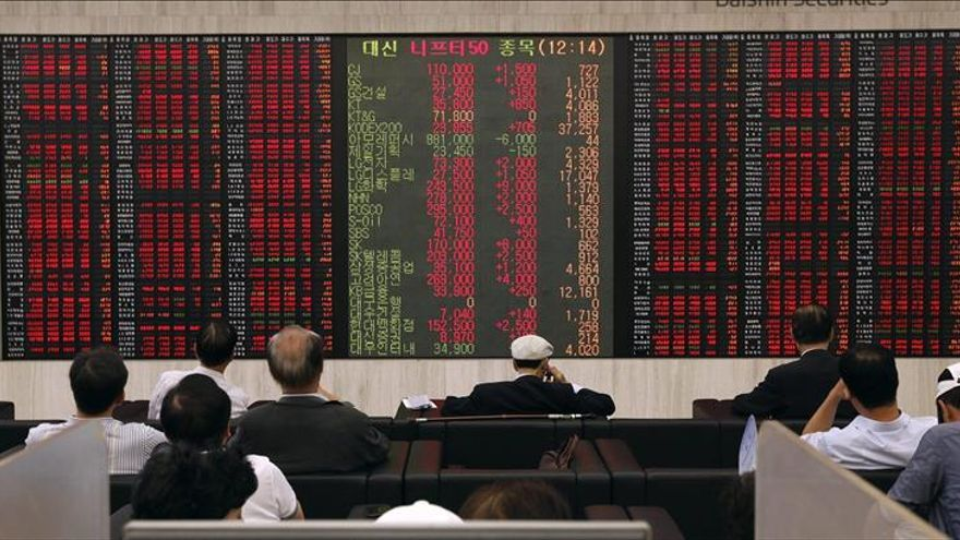 El Kospi surcoreano baja un 0,14 por ciento hasta los 1.990,26 puntos