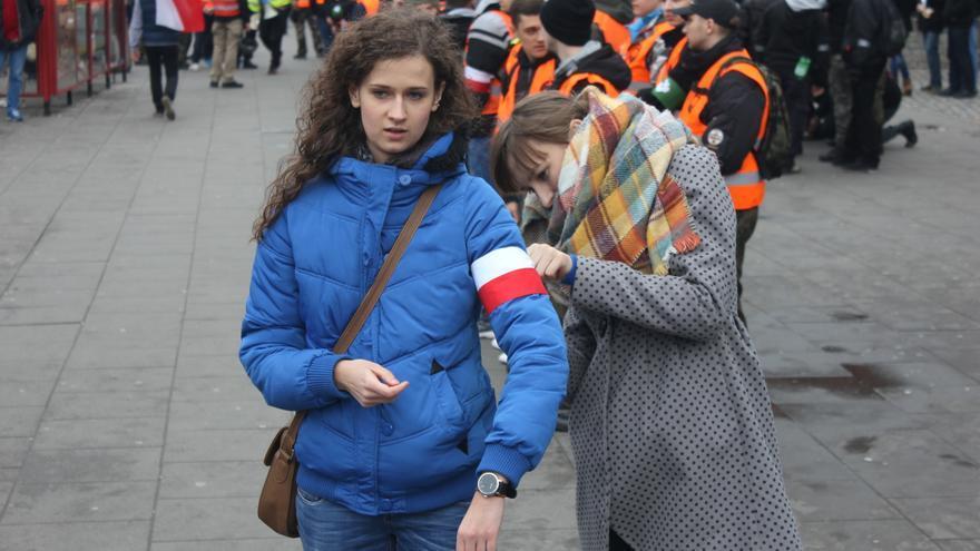 """""""Marcha Patrótica"""" en Varsovia el pasado 11 de noviembre, organizada por grupos de extrema derecha con el lema """"Polonia para los polacos""""  / Marta Alemany"""
