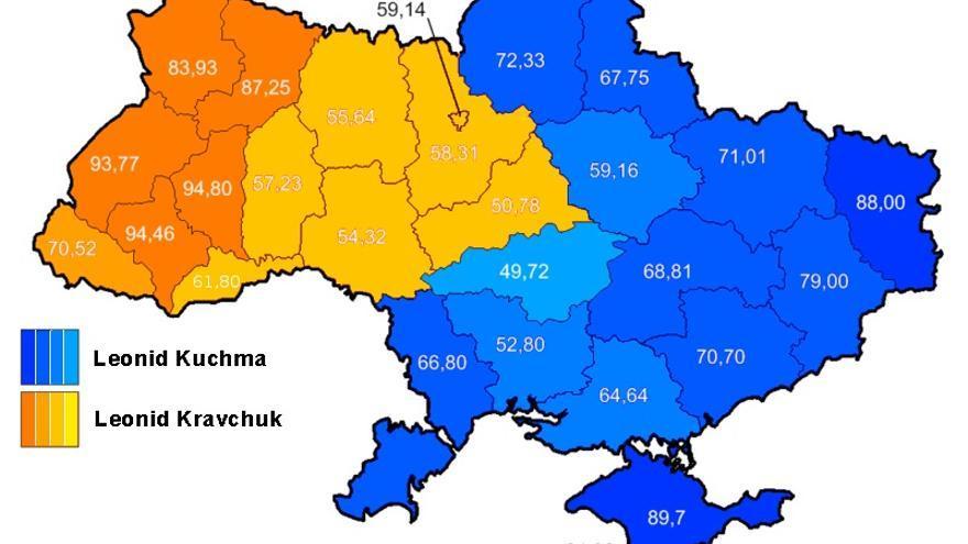 Resultados de las elecciones presidenciales de Ucrania de 1994.