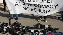 """Fotoperiodistas exigen en València """"libertad para informar"""" a LaLiga, Sanidad y Consejo Superior de Deportes"""