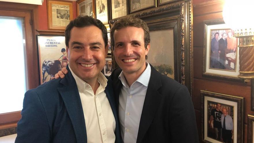 """Moreno felicita a los andaluces del equipo de Casado para la """"nueva etapa"""" en la que desde Andalucía reman """"todos a una"""""""