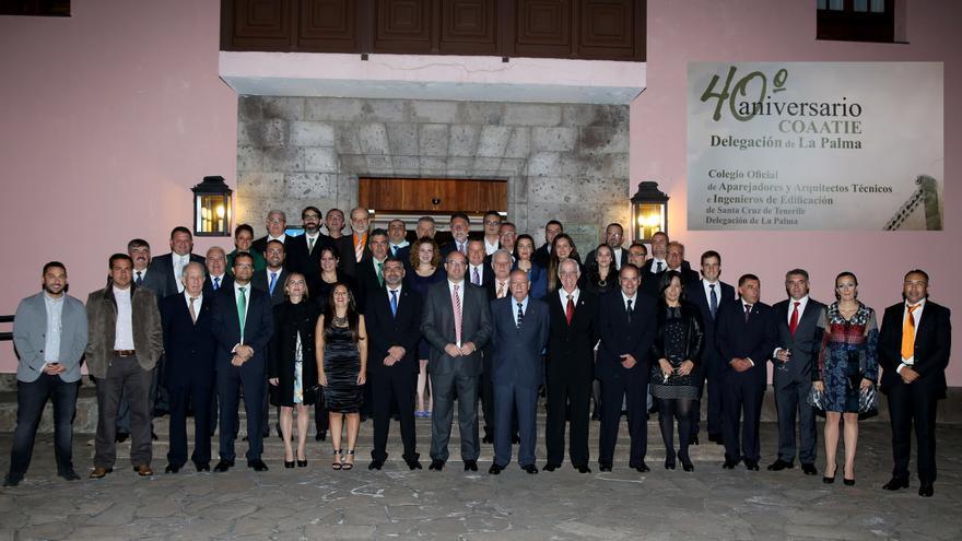 La delegaci n insular del colegio de aparejadores conmemora su 40 aniversario - Colegio de aparejadores de tenerife ...