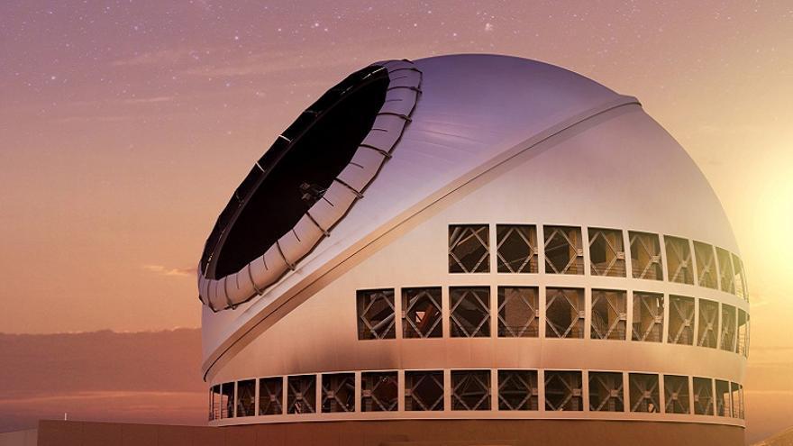 Recreación del telescopio TMT.