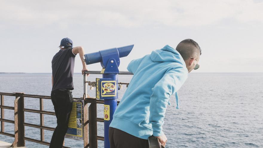 Algunos de los saharauis que llegaron a Canarias en enero.