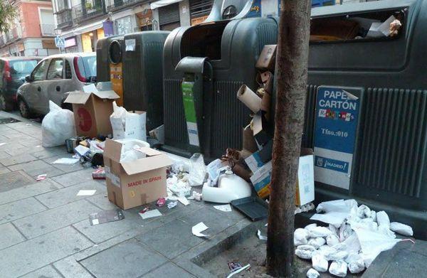 La mayoría de los contenedores de reciclaje presentan un aspecto similar a este | Fotografía: E. Bellod