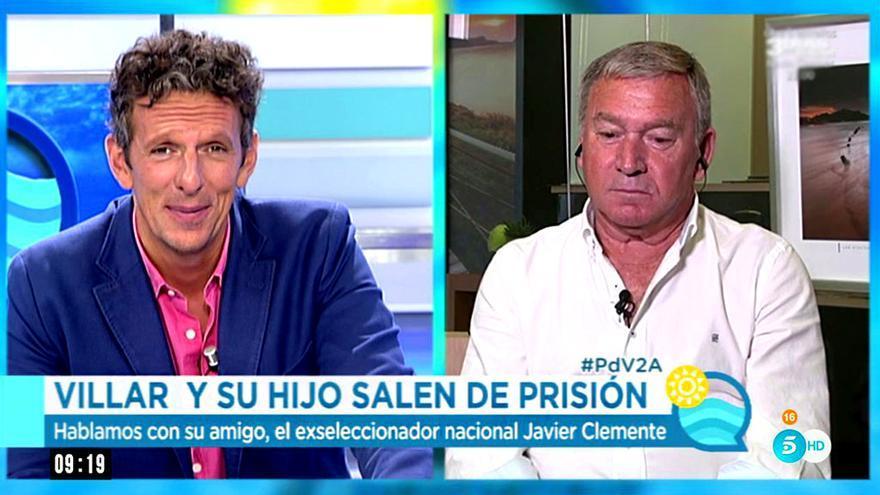 Joaquín Prat y Javier Clemente en El programa del verano de Telecinco