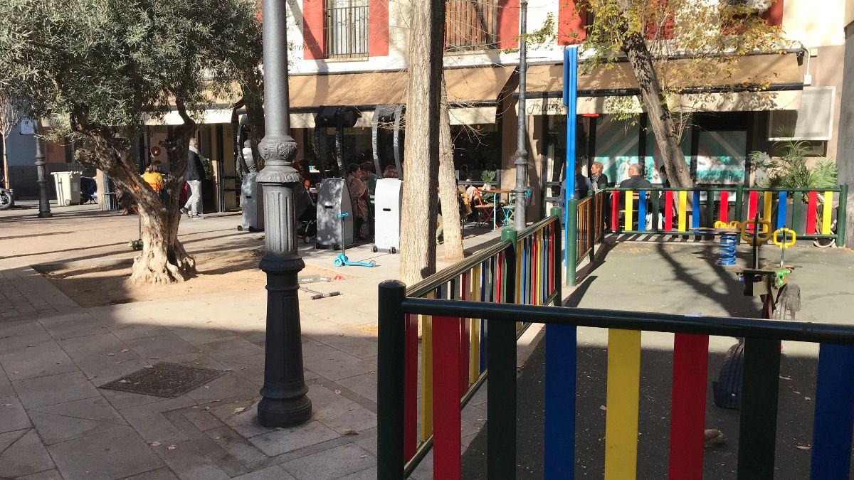 La Plazuela de San Gregorio desde la zona infantil | SOMOS CHUECA