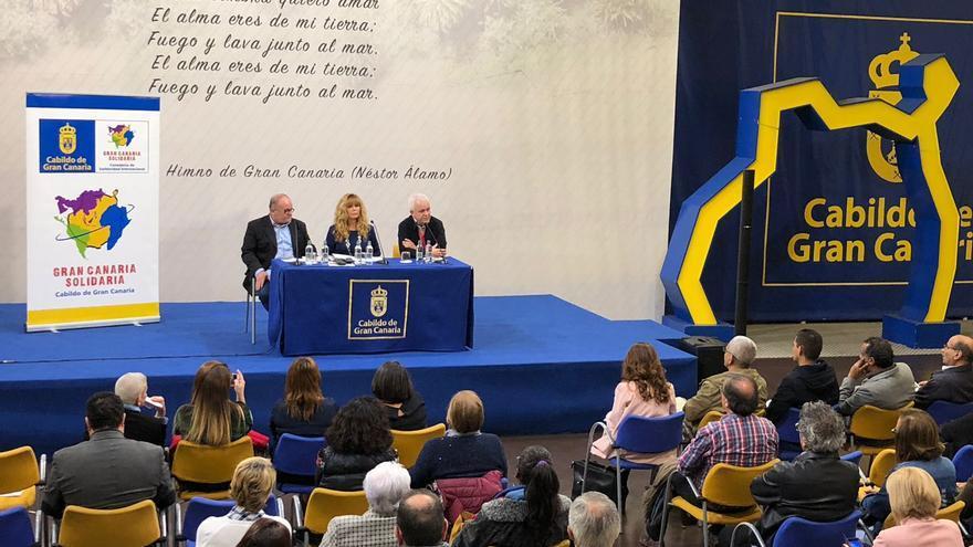 Presentación del libro 'Duele decir adiós' en el Patio del Cabildo de Gran Canaria.