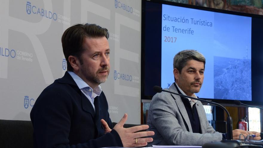 Carlos Alonso y Alberto Bernabé, en la rueda de prensa de este lunes