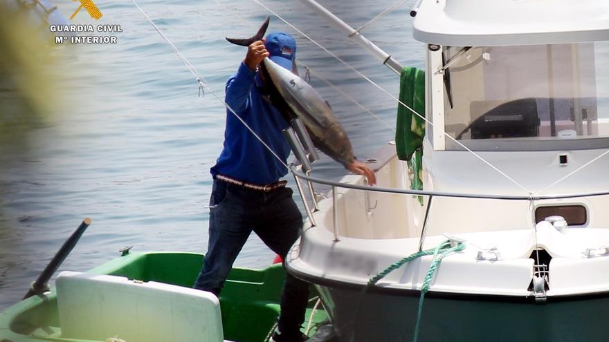 Denunciados dos hombres de 71 y 66 años por pesca furtiva de bonitos en Castro Urdiales