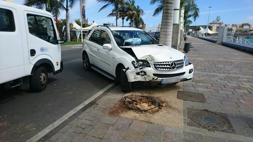 Accidente en Las Palmas de Gran Canaria (Policía  Local)