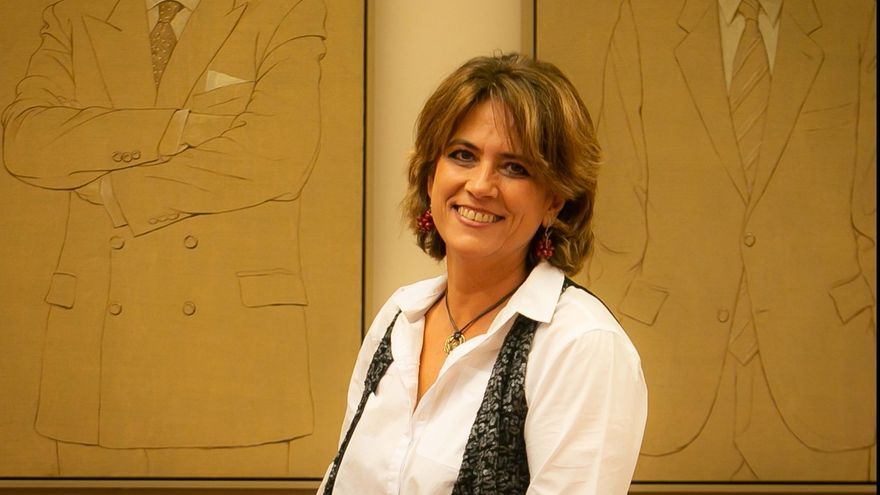 """La ministra Dolores Delgado cree que la pancarta contra Felipe VI """"no procedía"""" aunque cree que es algo """"secundario"""""""