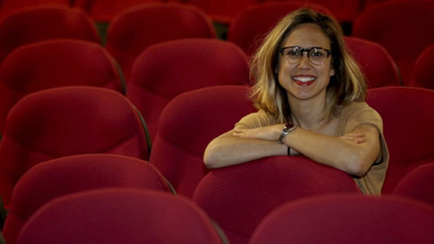 La investigadora Miren Manias. Foto: Nagore Iraola. UPV/EHU