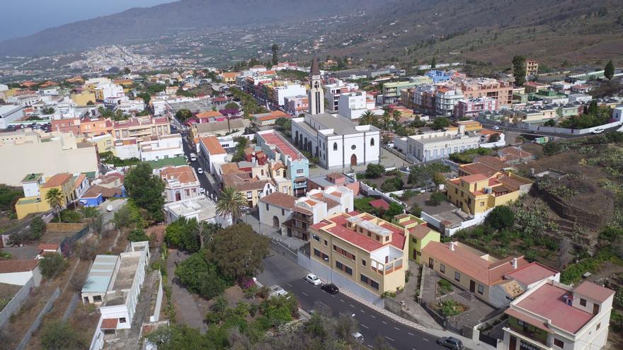 Vista área del casco urbano de El Paso.