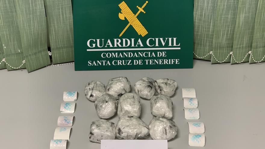Cocaína incautada por la Guardia Civil.