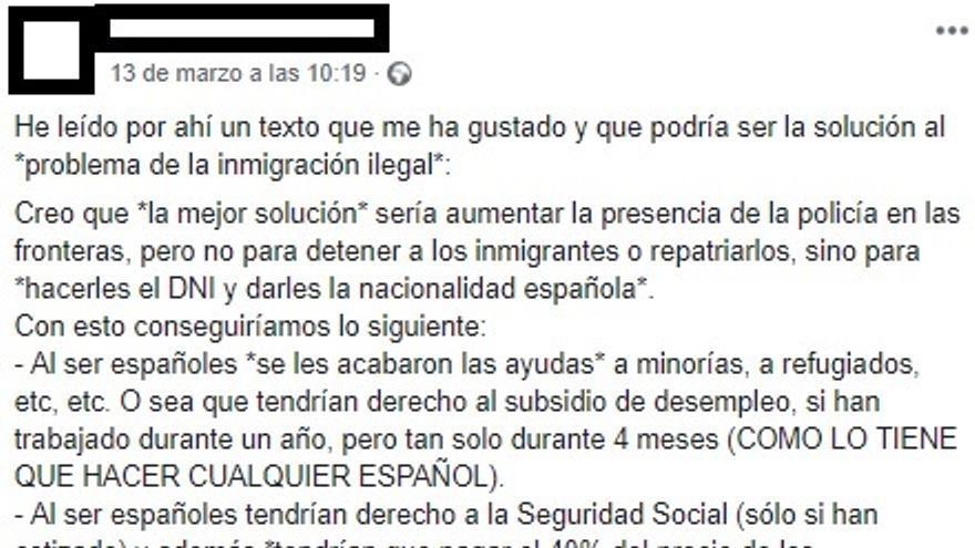 Una cadena de Whatsapp intenta engañarte con ironía sobre inmigrantes, impuestos y obligaciones