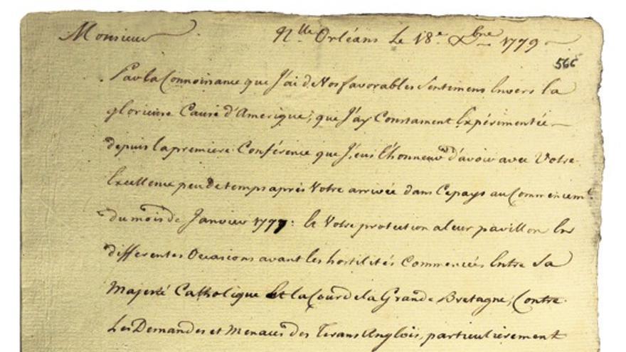 La carta remitida por Oliver Pollock y hallada por Manuel Olmedo en el Archivo de Indias