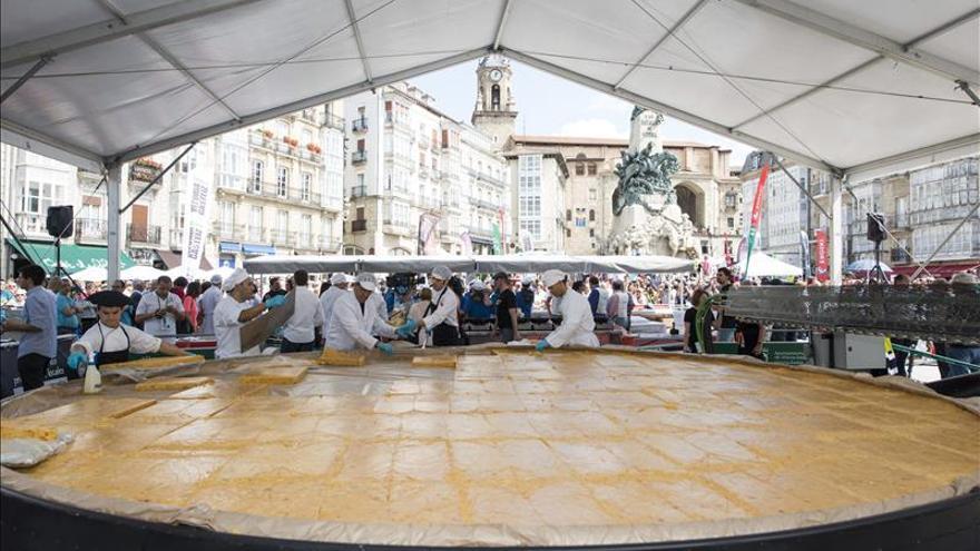 La Capital de la Gastronomía, el alcalde de Vitoria se tiró a la piscina