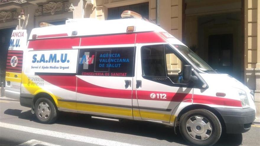 Una ambulancia del SAMU de la Generalitat Valenciana
