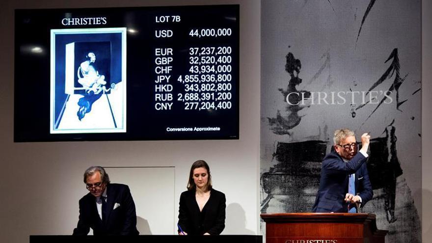 Christie's subasta por 50 millones de dólares un retrato del amante de Francis Bacon