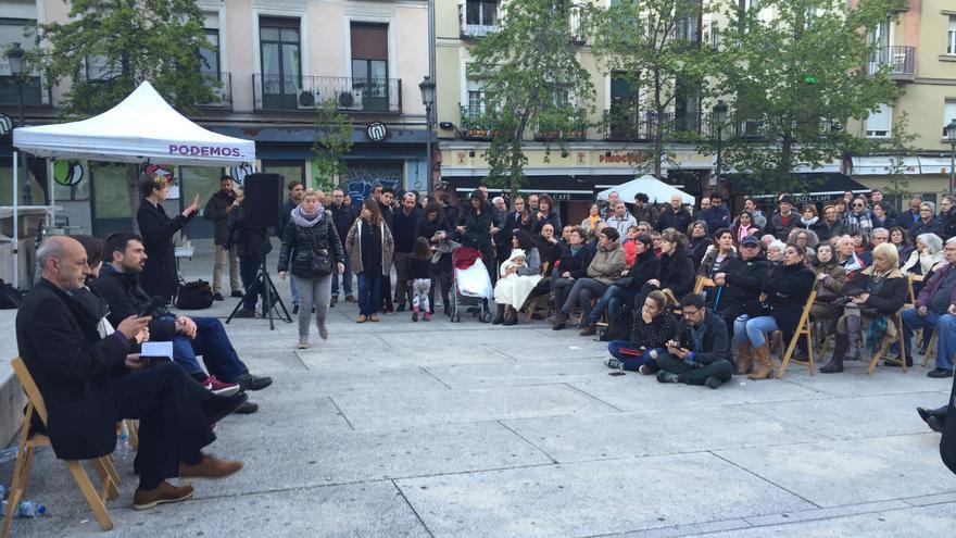 Acto de Podemos para defender el 'no' al pacto PSOE-Ciudadanos en su consulta interna / I.C.