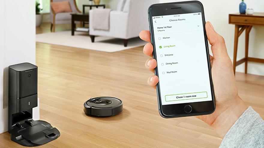 El Roomba i7, uno de los dispositivos que no pueden faltar en un hogar conectado.