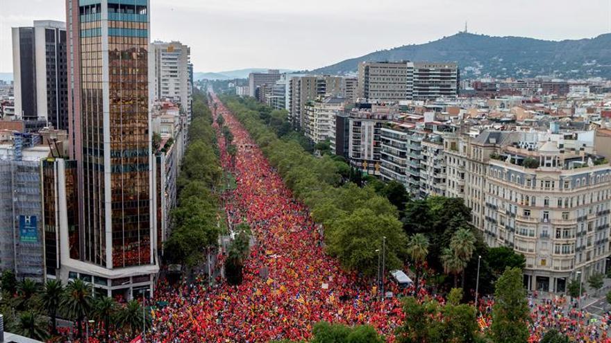 Imágenes aéreas del Día Nacional de Catalunya