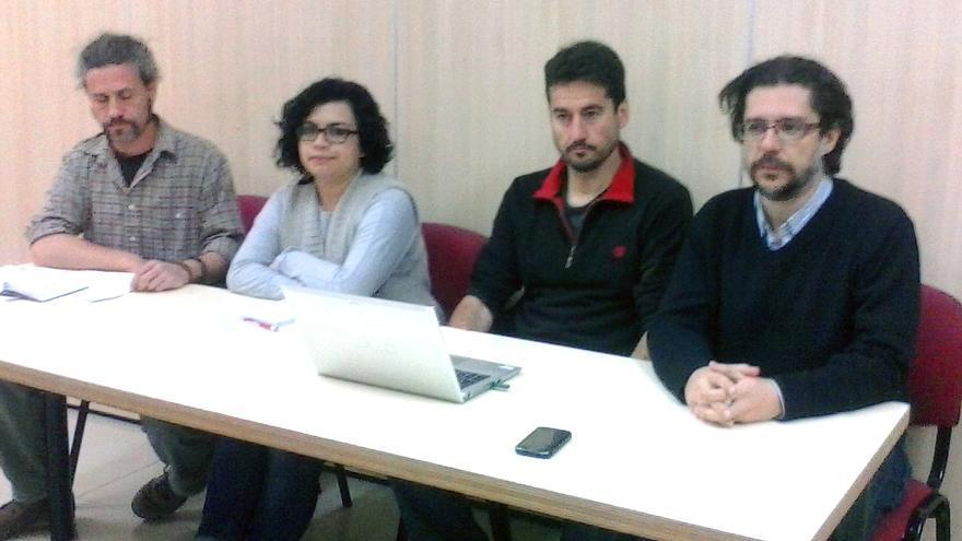 Jordi Peris, Ángela Pedraza, Iñaki Pérez y Rafael Monterde, de Guanyem València