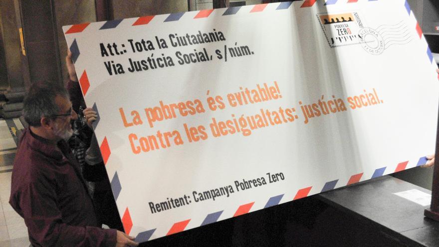 Dia mundial erradicación contra la Pobreza. Barcelona. Joan Luzzati