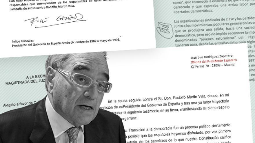 Las cartas de apoyo de políticos que Martín Villa ha presentado a la jueza