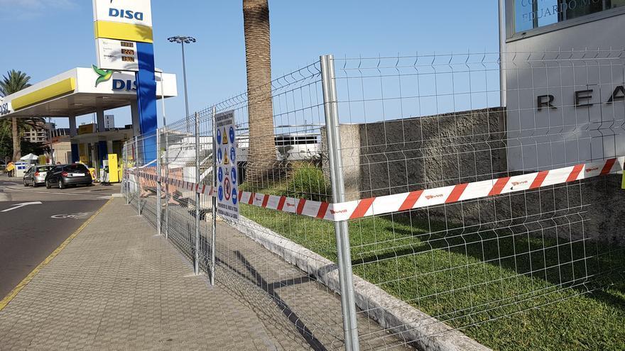 Tramo del paseo peatonal que se construirán en el borde urbano del Puerto de Santa Cruz de La Palma.