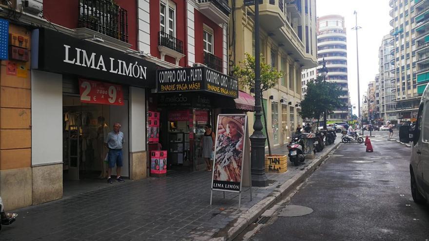 Así estaba la calle San Vicente antes de la actuación municipal