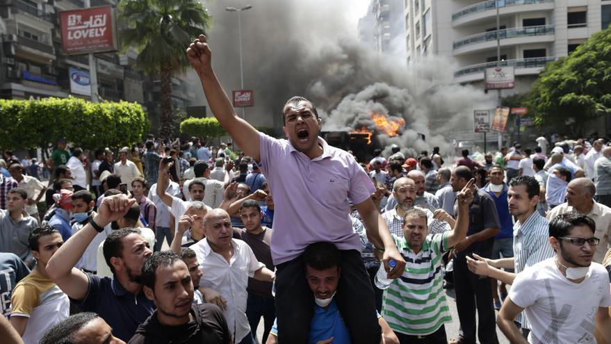 Una manifestación que generó disturbios en El Cairo. / Gtres