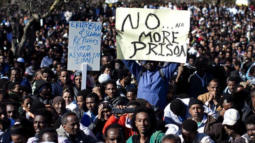 Los emigrantes sudaneses y eritreos trasladan sus protestas a Jerusalén