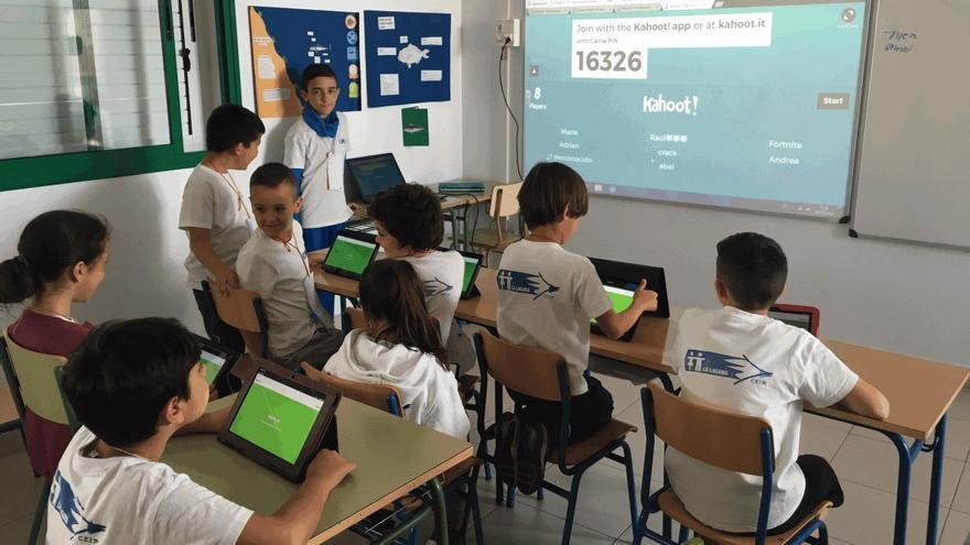 Alumnos del CEIP La Laguna durante una clase.
