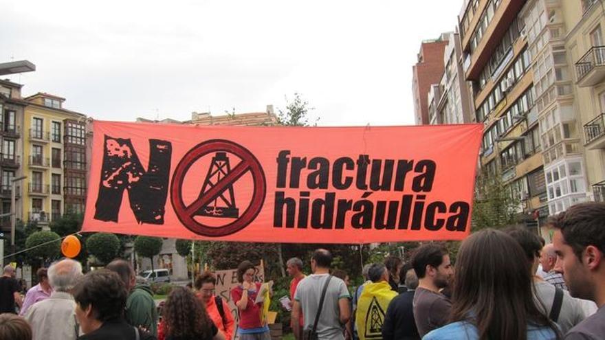 Protesta contra el fracking