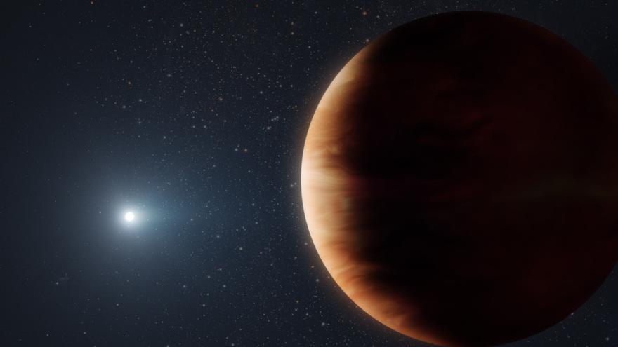 Sistema planetario formado por una enana blanca y un planeta gaseoso.