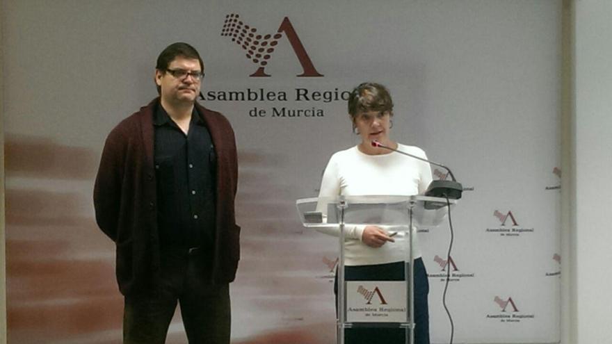 Andrés Pedreño y María Giménez, diputados de Podemos en la Asamblea Regional de Murcia