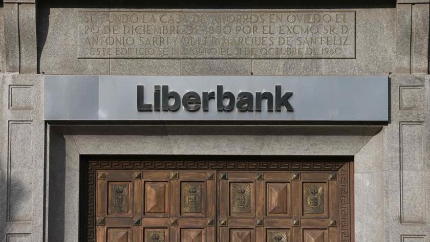 Vista de las oficinas centrales de Liberbank en Oviedo.