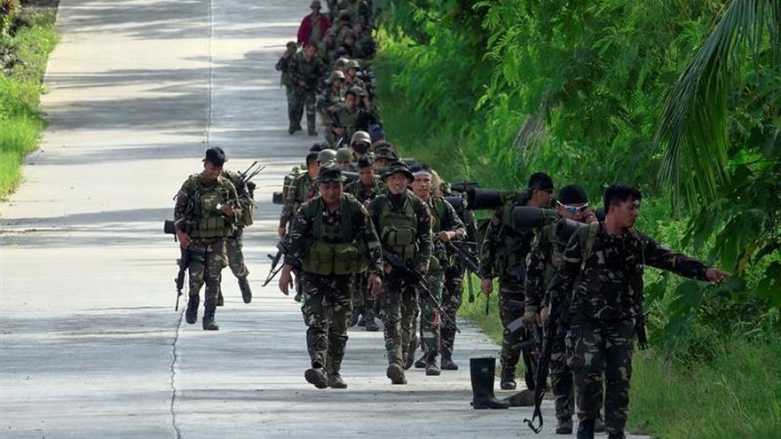 El Ejército filipino arrebata a los yihadistas posiciones claves en Marawi