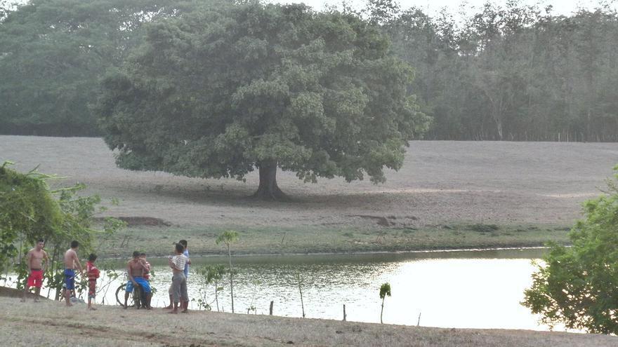 Las voces de alarma aparecieron en la comunidad de Jocotá cuando percibió que la laguna había comenzado a secarse | Nazaret Castro