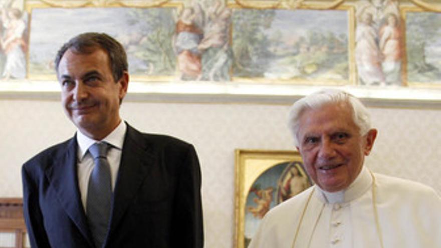 Presidente del Gobierno, José Luis Rodríguez Zapatero y el Papa Benedicto XVI