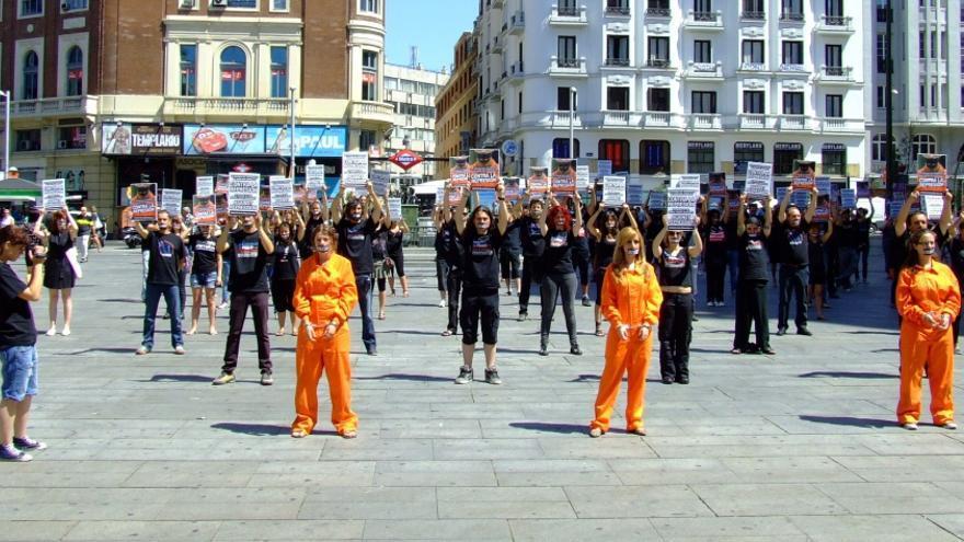 Protesta contra la detención de varios activistas en 2011. Foto: Alejandra Olmedo