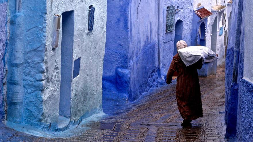 Calejones azules y chilabas de lana. Martina Abba (CC)
