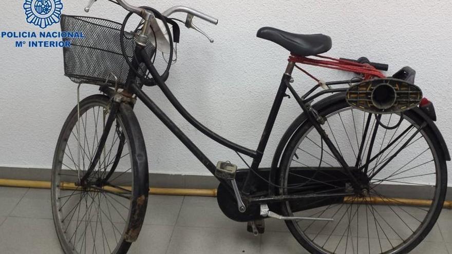 Bicicleta en la que iba el peregrino