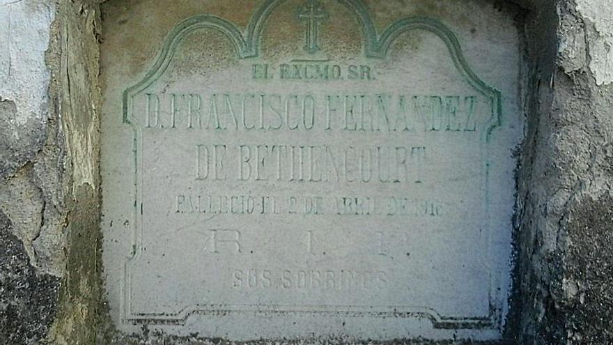 Tumba de Francisco Fernández de Béthencourt