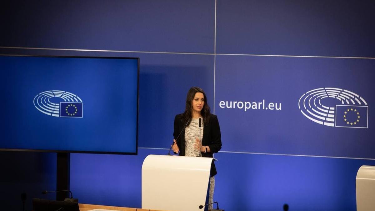 Arrimadas, en el Parlamento Europeo este jueves