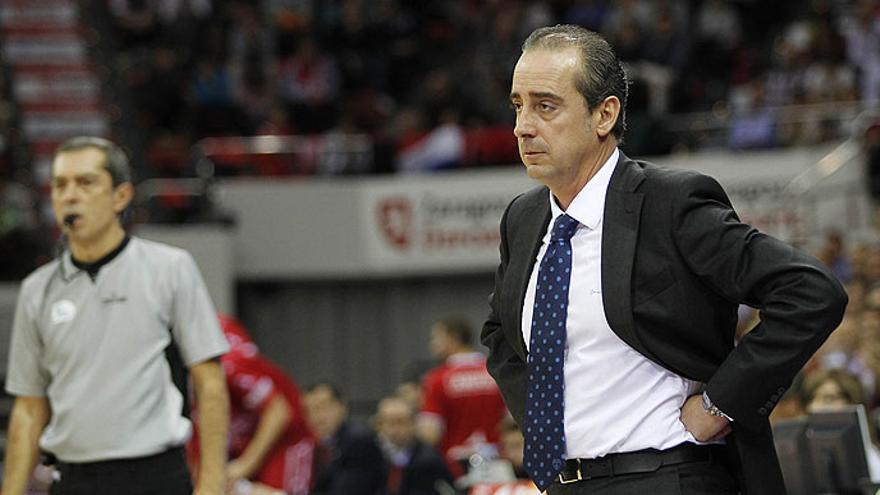 Jesús Vidorreta Gómez en una imagen durante su etapa como entrenador del Movistar Estudiantes. (Página Oficial ACB).